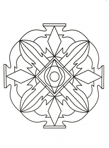 Simple soothing Mandala coloring page