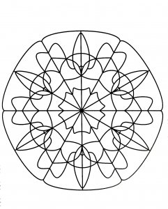 Unique and simple Mandala coloring page