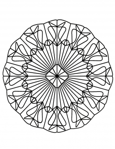 Mandala to print and color for free