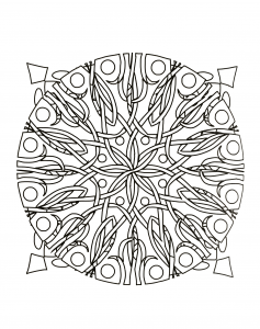Mandala with abstract forms