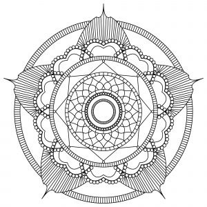 Anti stress Mandala forming a flower