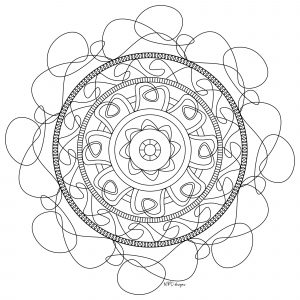 Mandala to download & color