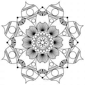 Mandala to print & color