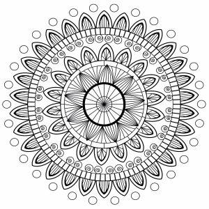 Mandala with petals